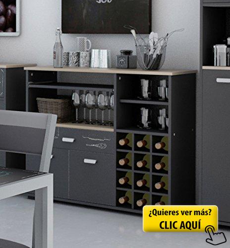 Buffet botellero para cocina de 2 puertas y 1... #muebles | muebles ...