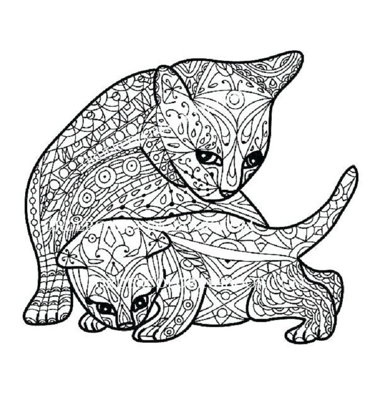 Hard Kittens Coloring Pages Cat Coloring Book Kitten Coloring Book Animal Coloring Pages