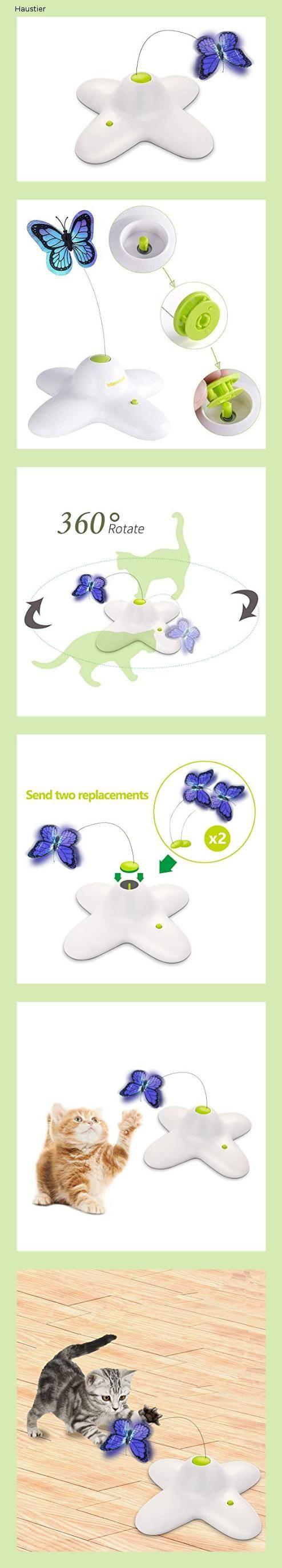 All For Paws Interaktives Katzenspielzeug Schmetterling Mit Zwei Ersatz Schmetterlingen Sich Dr In 2020 Interaktives Katzenspielzeug Katzen Spielzeug Katzenspielzeug