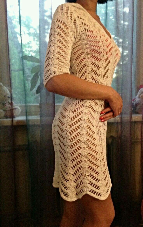 Pin de Cecilia Garcia en crochet   Pinterest   Vestidos tejidos ...