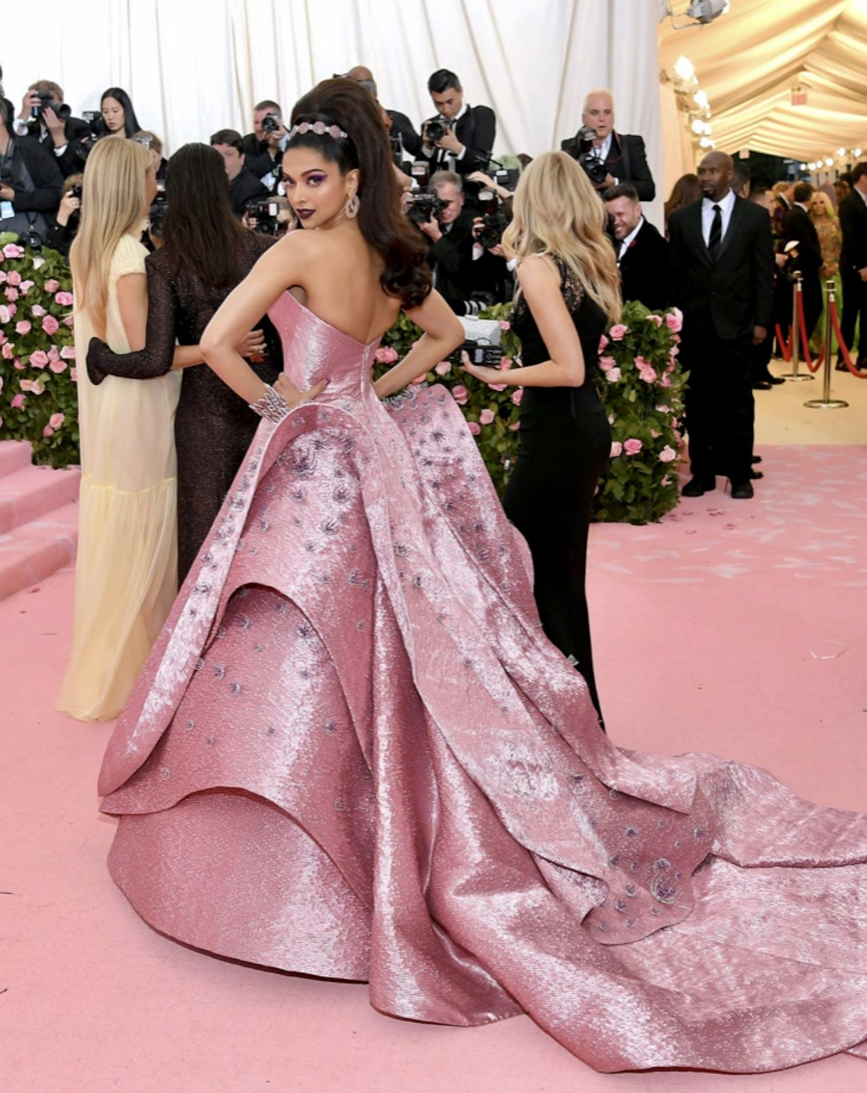 Deepika Padukone Met Gala 2019 Designer Zac Posen Barbie Gowns Gowns Pink Gowns