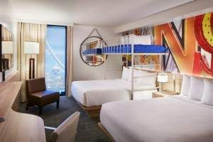 Pin By The Vox Agency On The Linq Promenade Hotel Room Design Linq Hotel Hotels Room