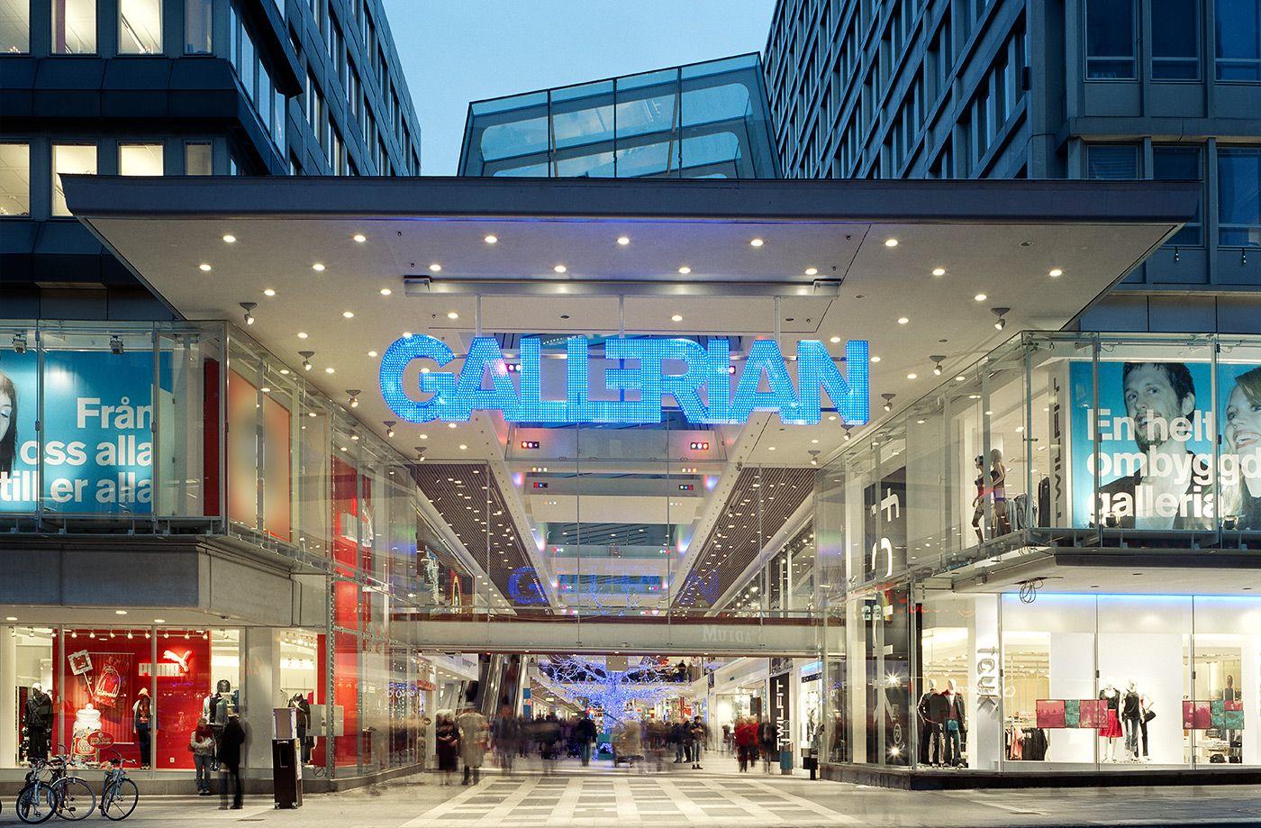 Bvd Gallerian Signage Entrance Design Stockholm Shopping