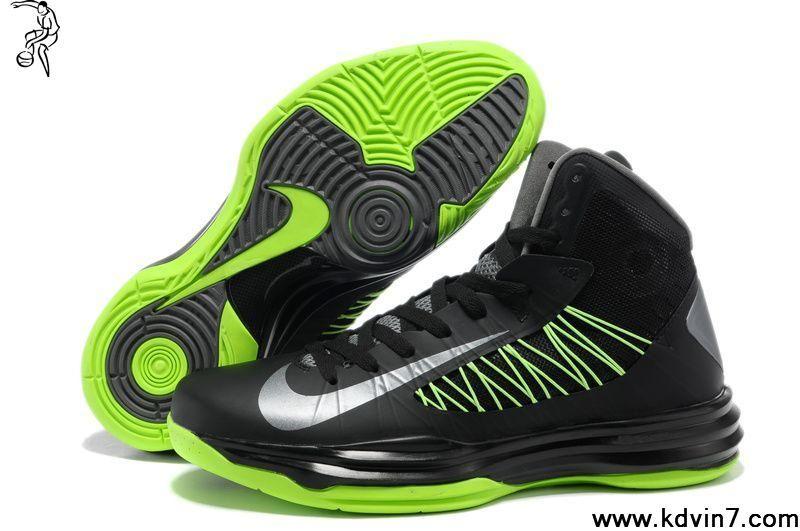 6a5d70caef62 Nike Lunar Hyperdunk 2013 Men s Basketball Shoes Black Gorge Green Fashion  Shoes Store
