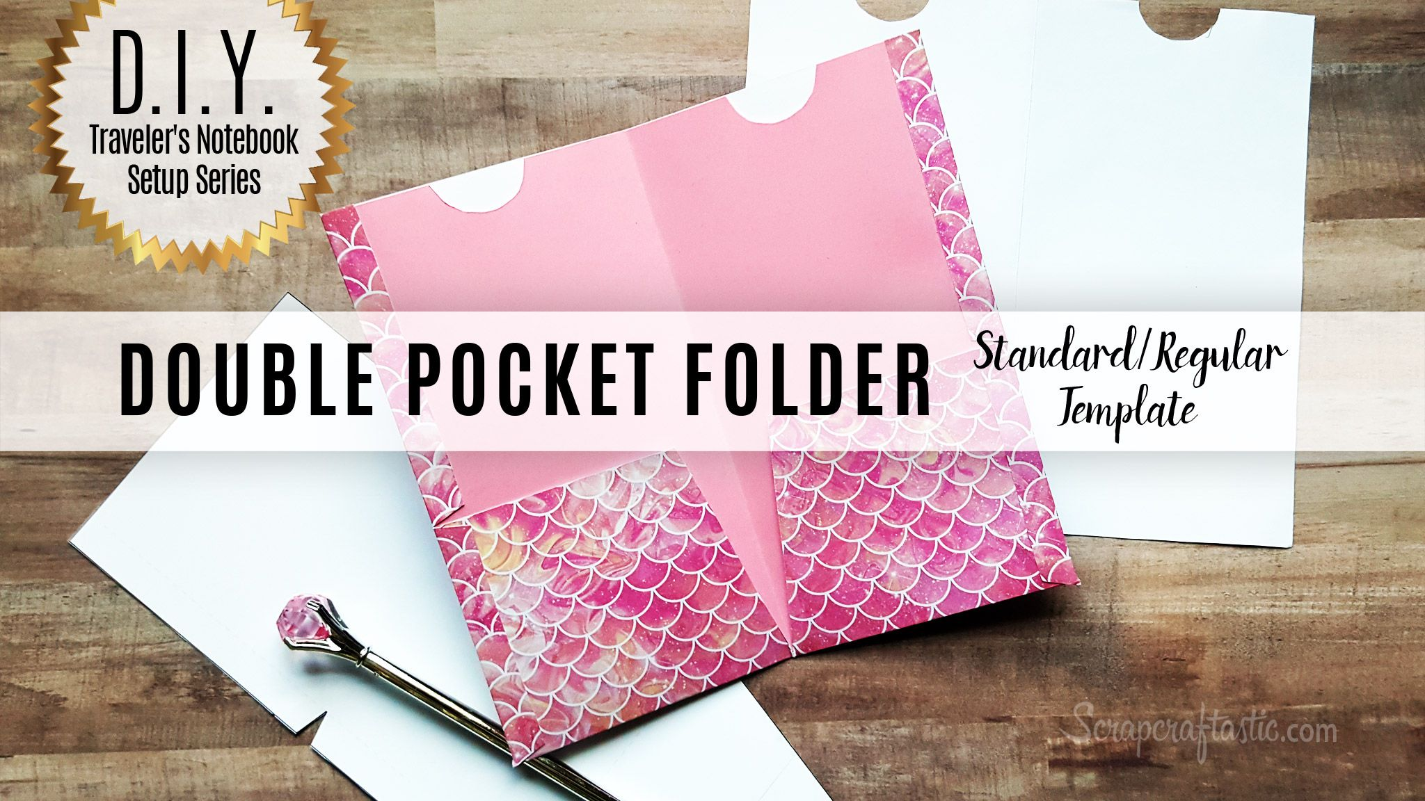 Diy Double Pocket Folder Template For Standardregular Size