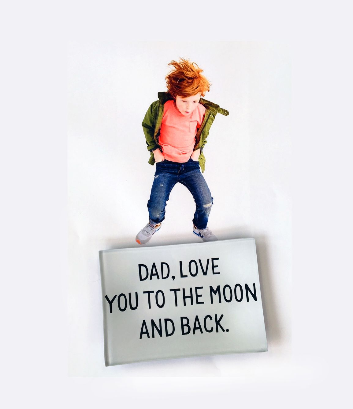 """Dad, love you to the moon and back,""❤️ Ben's Garden glass decoupage desk valet tray... The quote of the day for Monday as ⭐️ a great gift idea for dad and Father's Day! Visit Bensgarden.com to find more fun quotes and gifts for dad's desk at home or work- with free shipping on every order!"