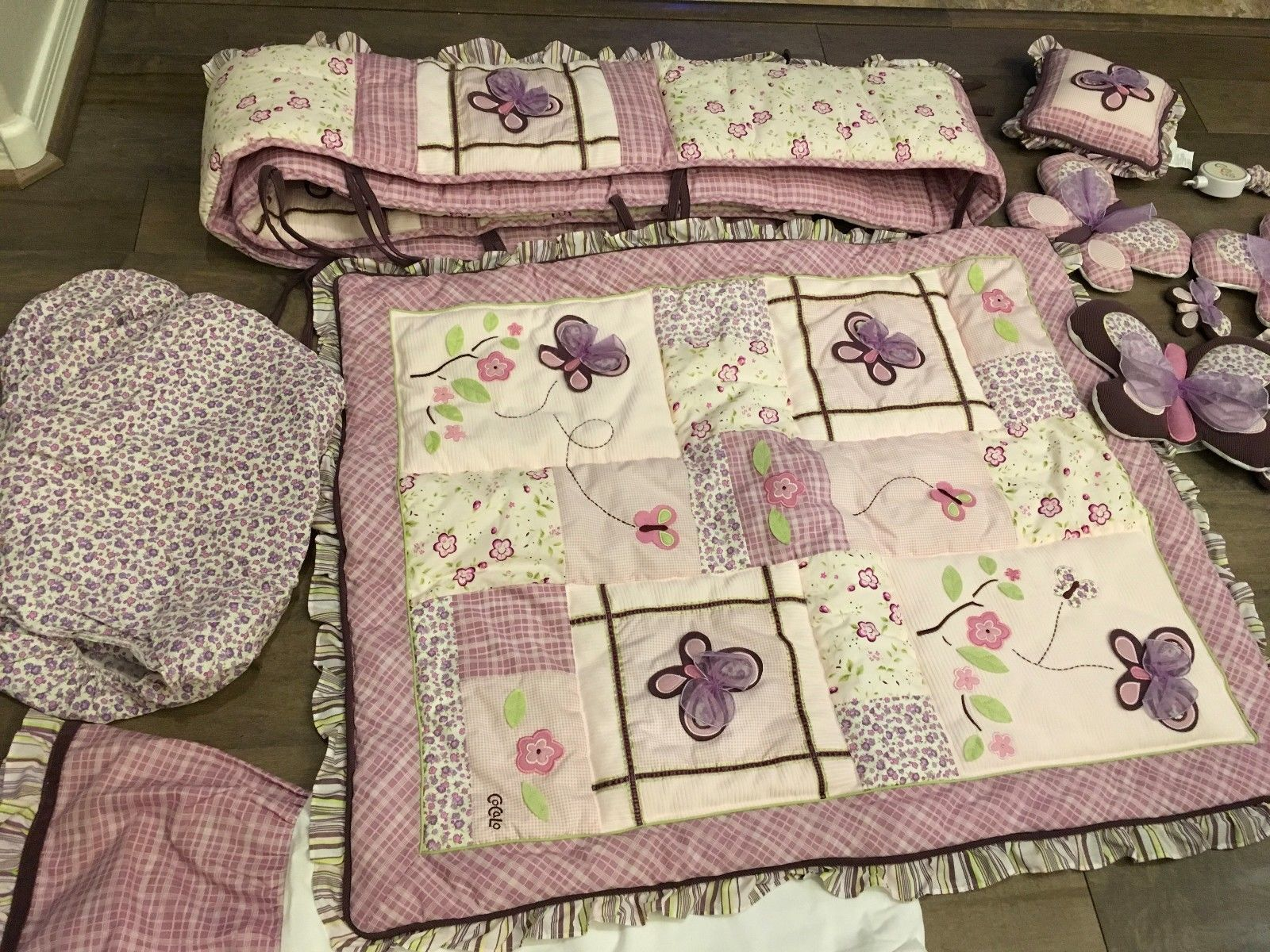 Cocalo Sugar Plum Purple Butterflies 10 Piece Baby Girl S Crib Bedding Set Baby Girl Crib Bedding Crib Bedding Sets Baby Girl Crib Bedding Sets
