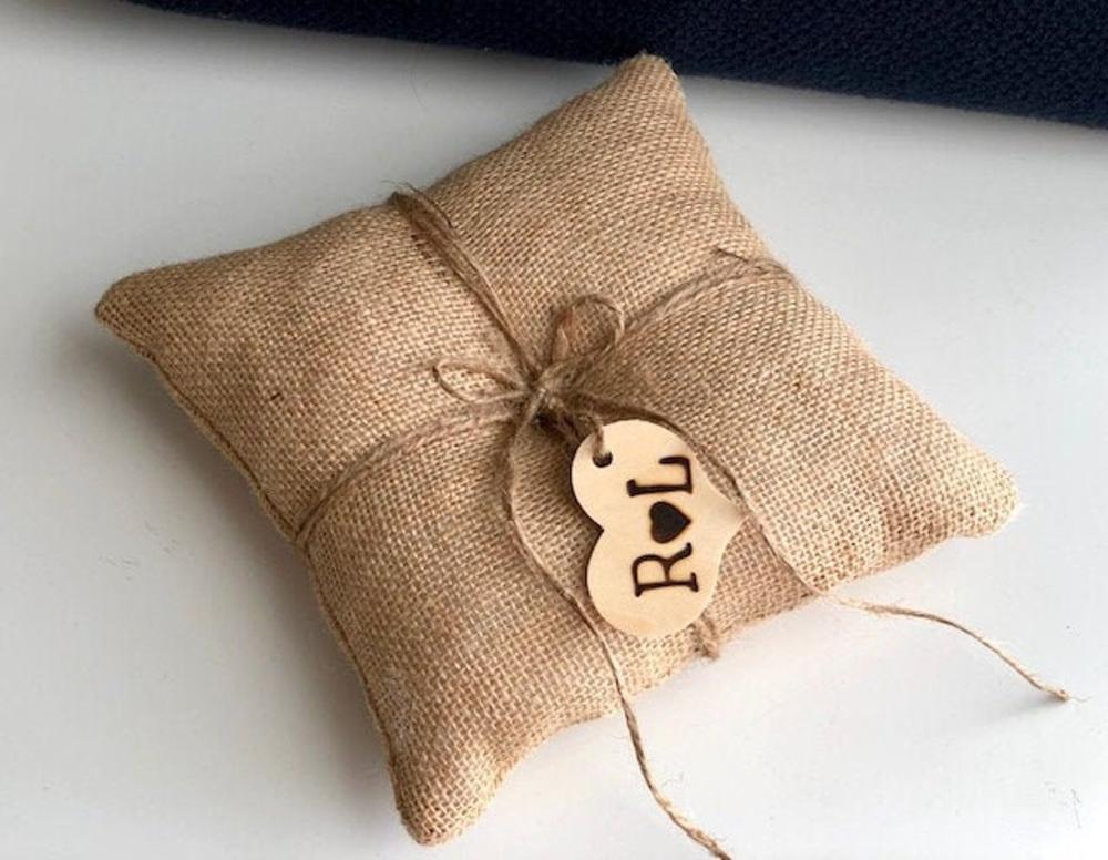 rustic ring pillow ring bearer pillow