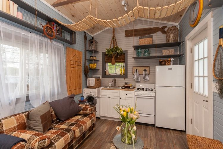 200 Sq Ft Cape Cod Inspired Tiny House On Wheels