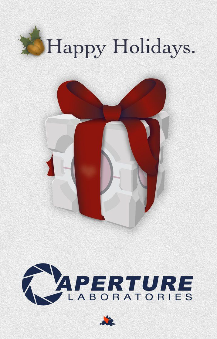 Portal Christmas Cards for Testing Purposes | The Mary Sue | Nerdy ...