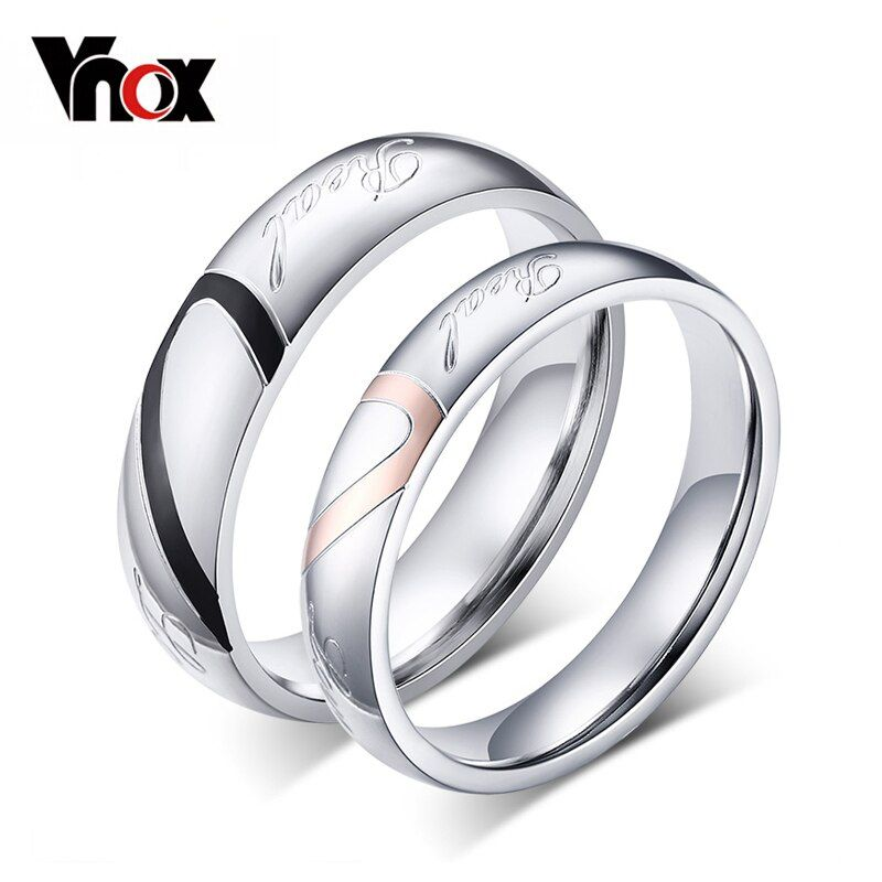 Buy 10pcs/lots Wholesale Couple Wedding Rings Love Heart Puzzle Stainless Steel Material Promise Mix Size at Factory Direct Price. Free or Low-cost Worldwide Shipping. Many of choice in our best Fashion Jewelry category with cheapest price on Pricetug