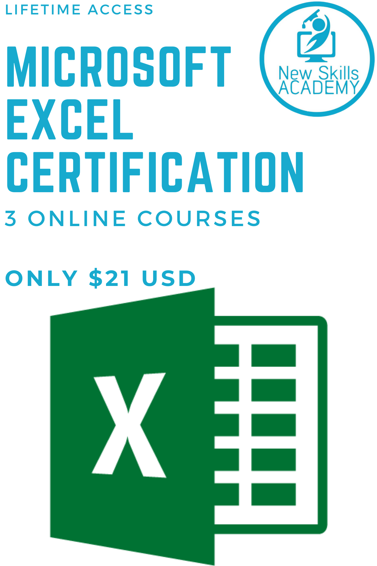 Microsoft Excel Certification Only 21 Usd In 2020 Excel For Beginners Microsoft Excel Excel