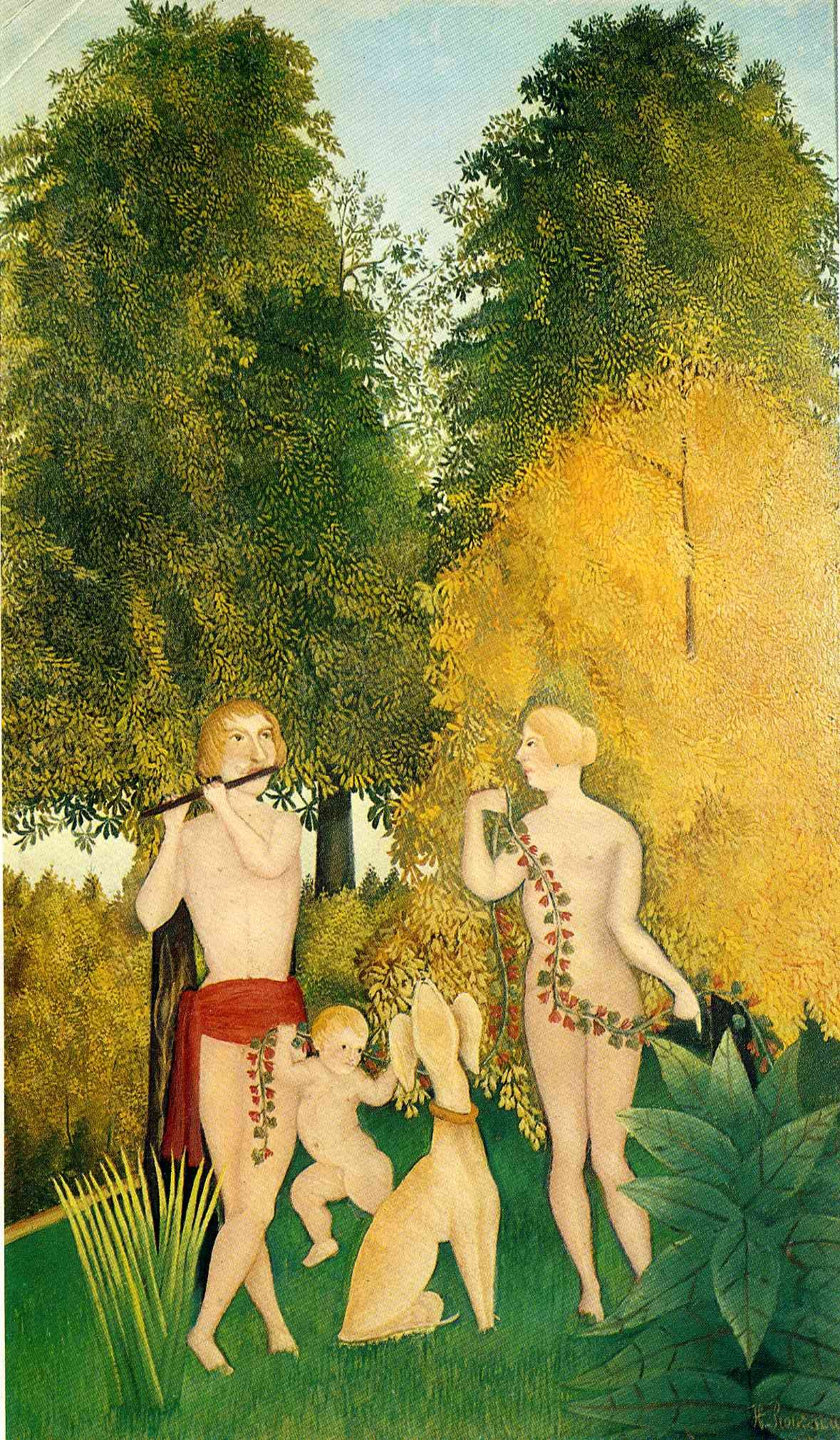 The Happy Quartet by @henrirousseau #naïveart