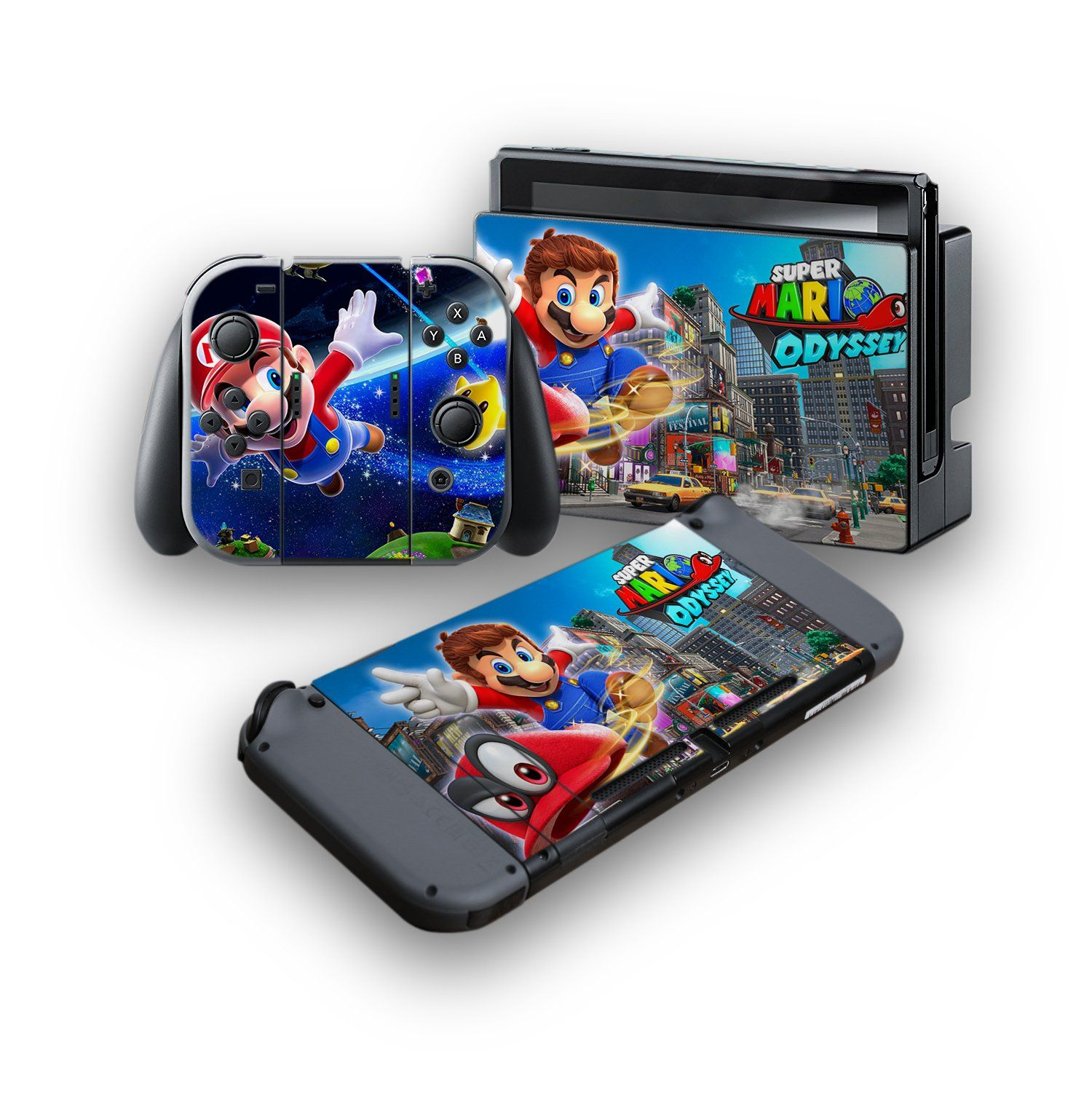 Super Mario Odyssey Protective Vinyl Skin Decal Cover For - roblox xbox one x textured vinyl protective skins