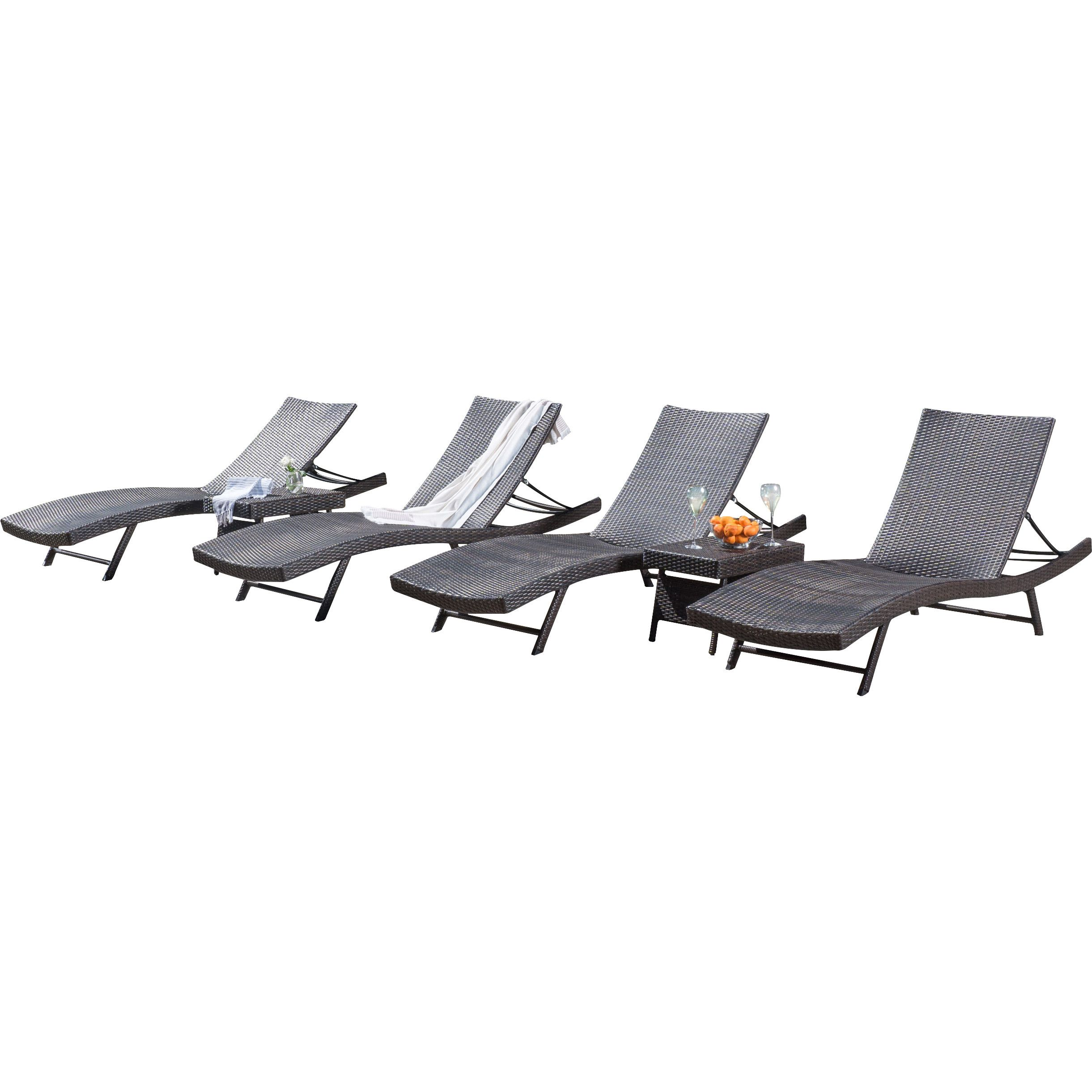 Home Loft Concepts Kauai 6 Piece Wicker Chaise Lounger Set ...