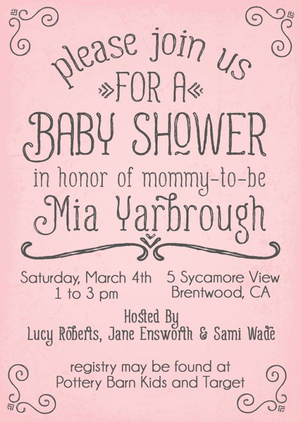 Baby Shower Invitations Sweet Baby Shower Invites For Girls Pink Simple Baby Shower Invites For Girl Simple Baby Shower Invitations Baby Shower Invitations