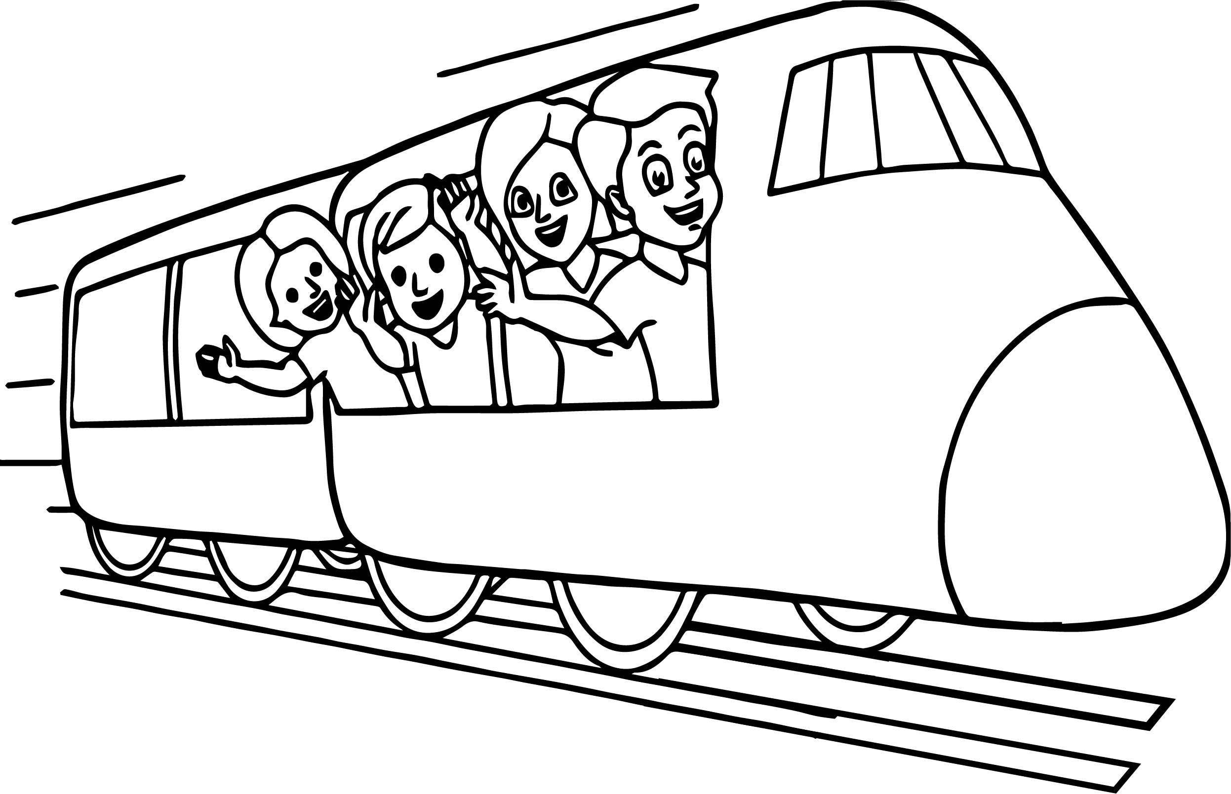 Metro Train Coloring Pages Background