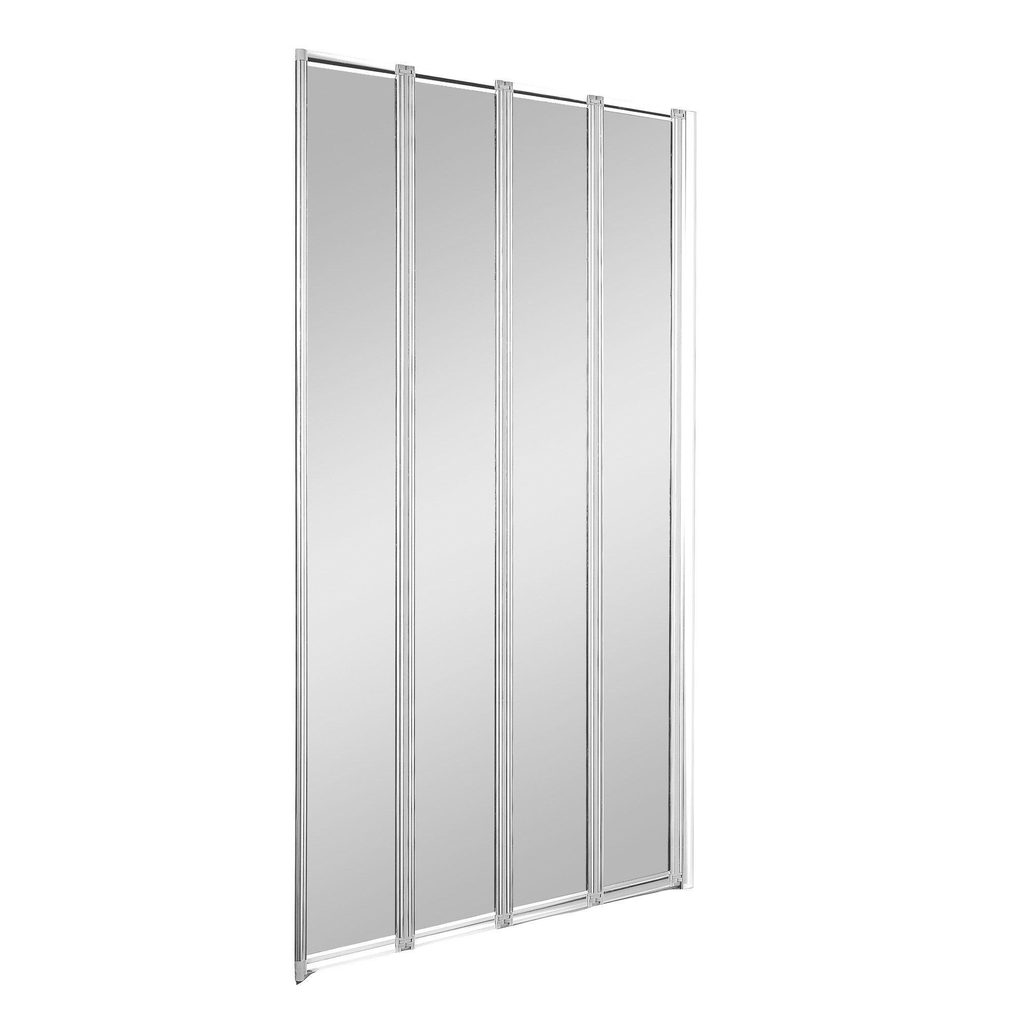 Nile Straight 4 Panel Folding Bath Screen (W)840mm