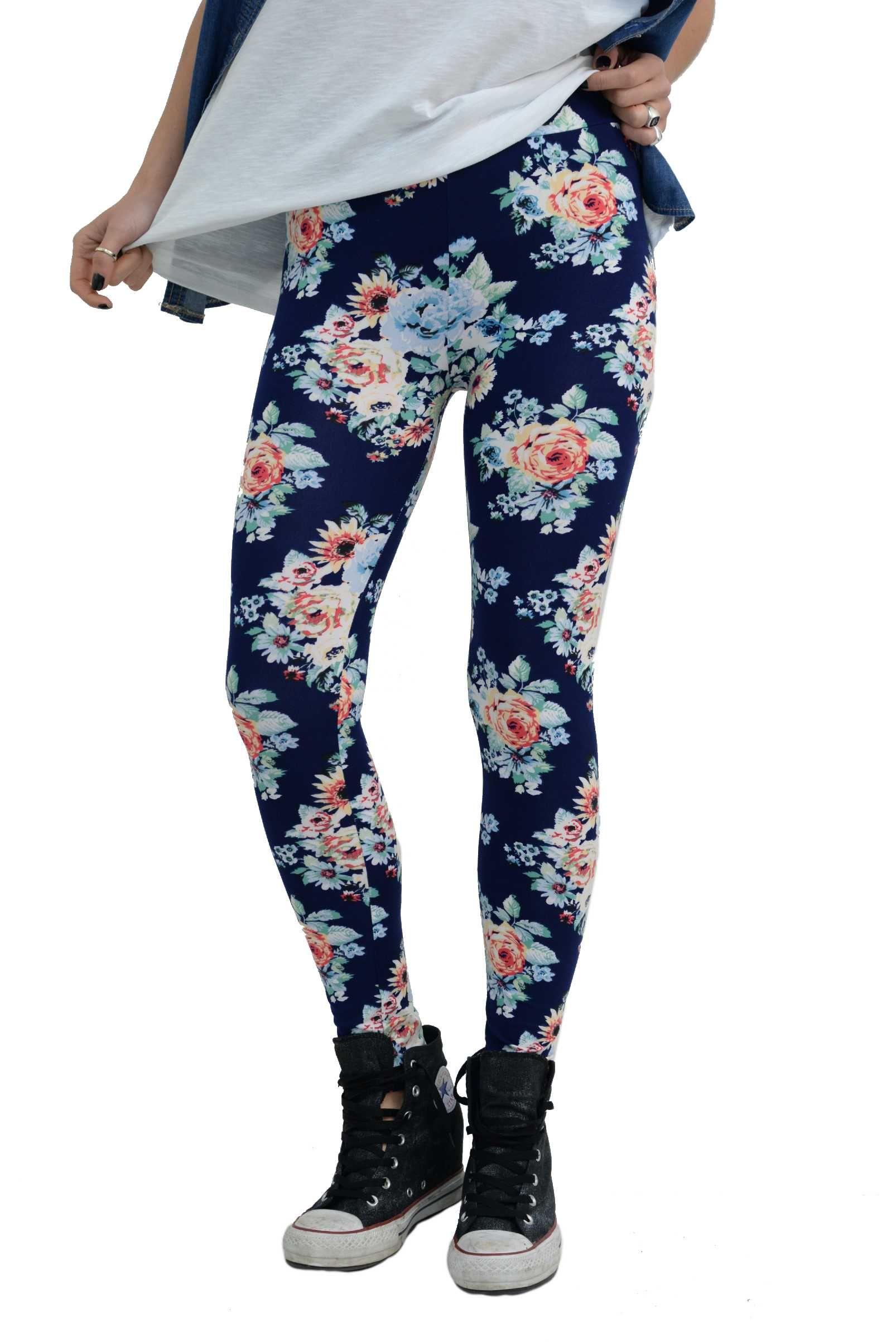 10f447830766 Γυναικείο παντελόνι κολάν βαμβακερό με floral σχέδιο. Έχει λάστιχο στην μέση  για να προσαρμόζει στο
