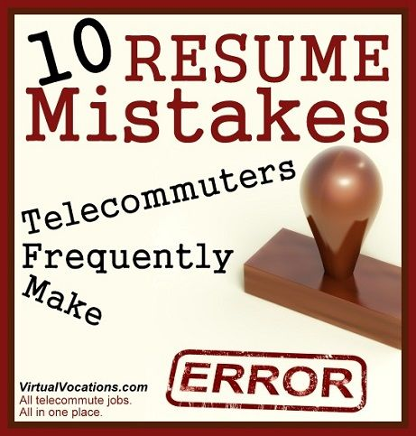 Increase your chances of getting a #job #interview by avoiding - common resume mistakes