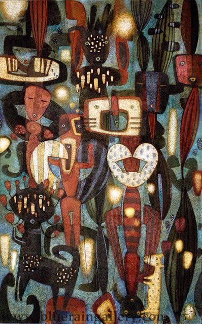 Tony Abeyta Paintings, Oil on canvas, at Blue Rain Gallery in Santa Fe, NM.  www.blueraingallery.com