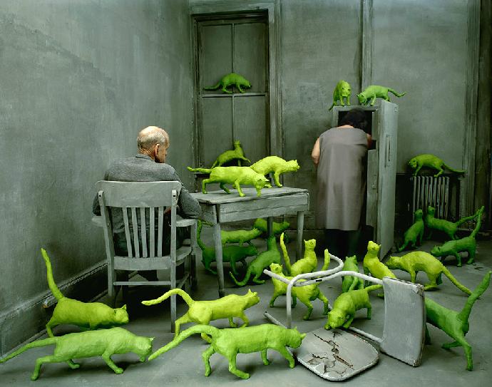 """cavetocanvas: """" Radioactive Cats - Sandy Skoglund, 1980 """""""