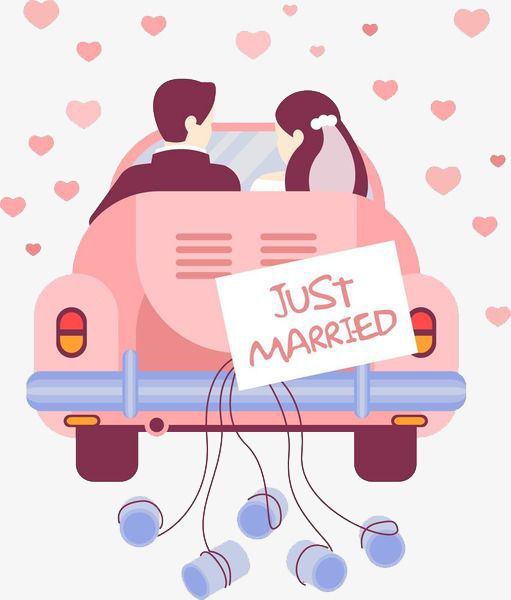 malvorlage just married auto vorlage zum ausdrucken