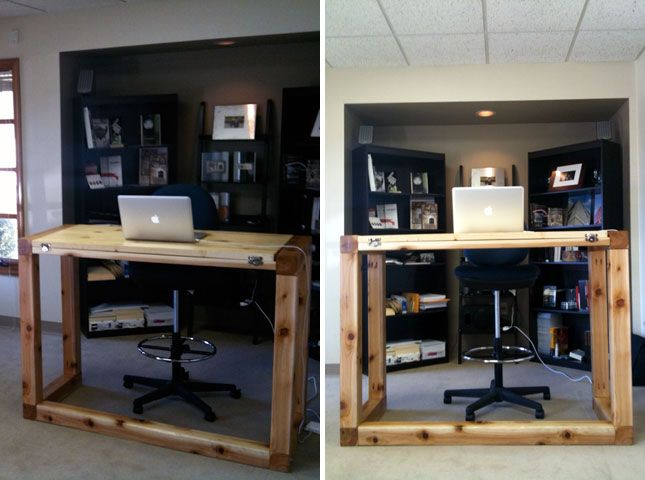 Standing Desk + Drafting Table | 10 Do It Yourself Standing Desks
