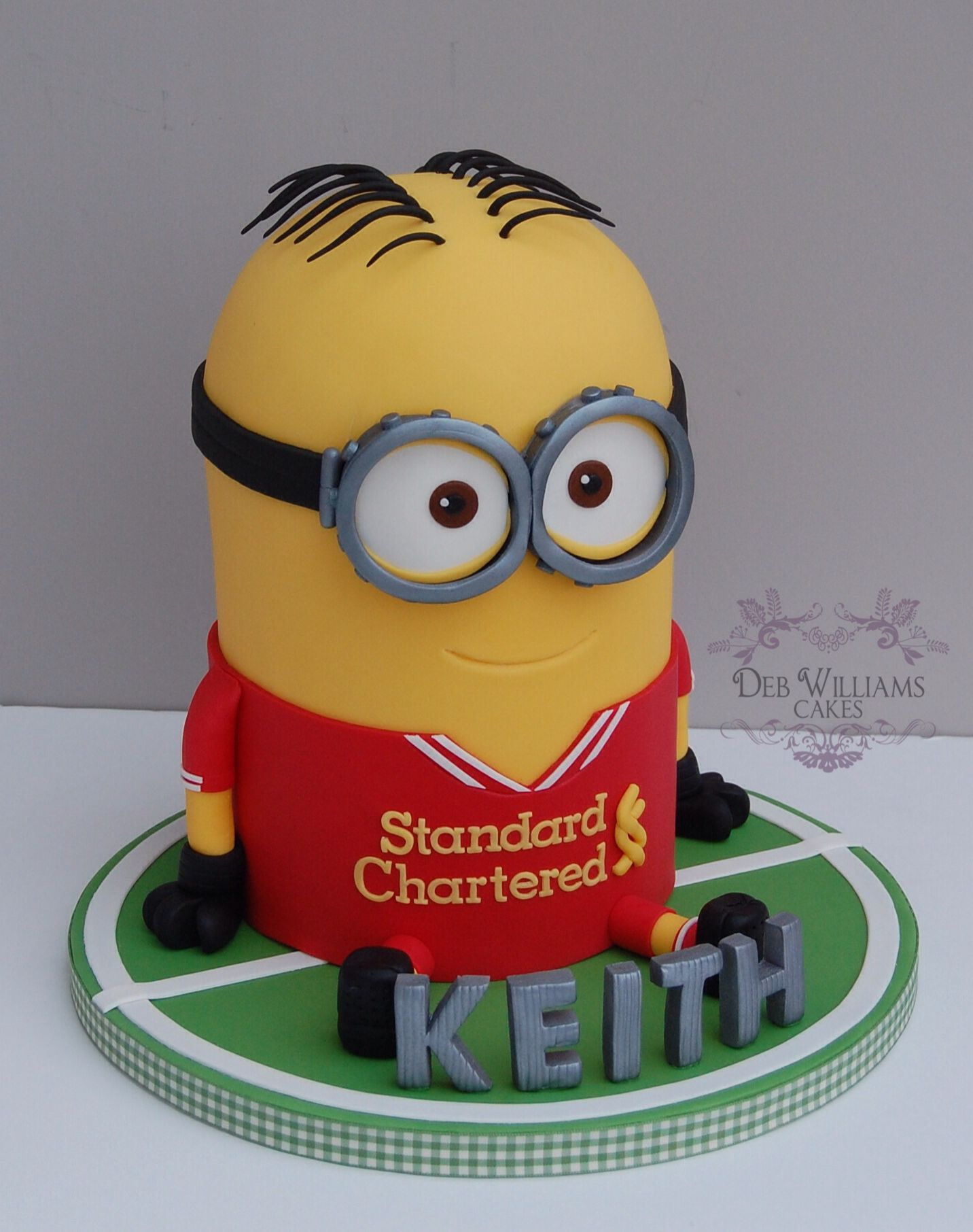 Minion Dave is a Liverpool FC fan by Deb Williams Cakes Kids