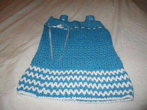 Crocheted cotton toddler dress