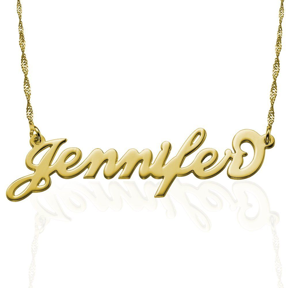 Personalized k gold carrie name necklace personalize this