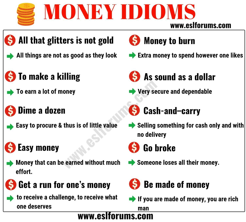 20 Interesting Money Idioms In English