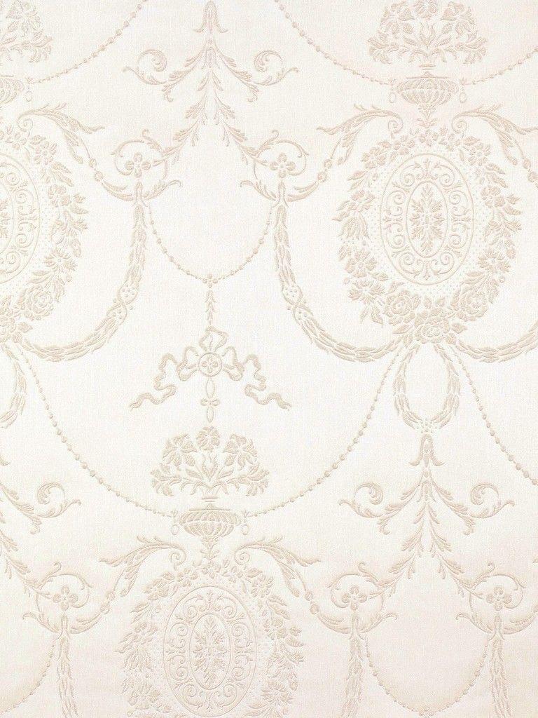 Tapete weiß ornamente  Trianon Tapete 513011 Rasch Vliestapete Ornamente weiß | Flur ...