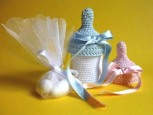 Baby bottle favors - crochet pattern