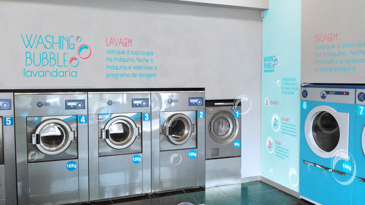 Branding project for a self service laundry. Laundry