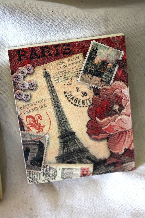 Decorative Tile Coasters Best Paris Romance Decoupage Decorative Tiles Coasterscathot Inspiration Design
