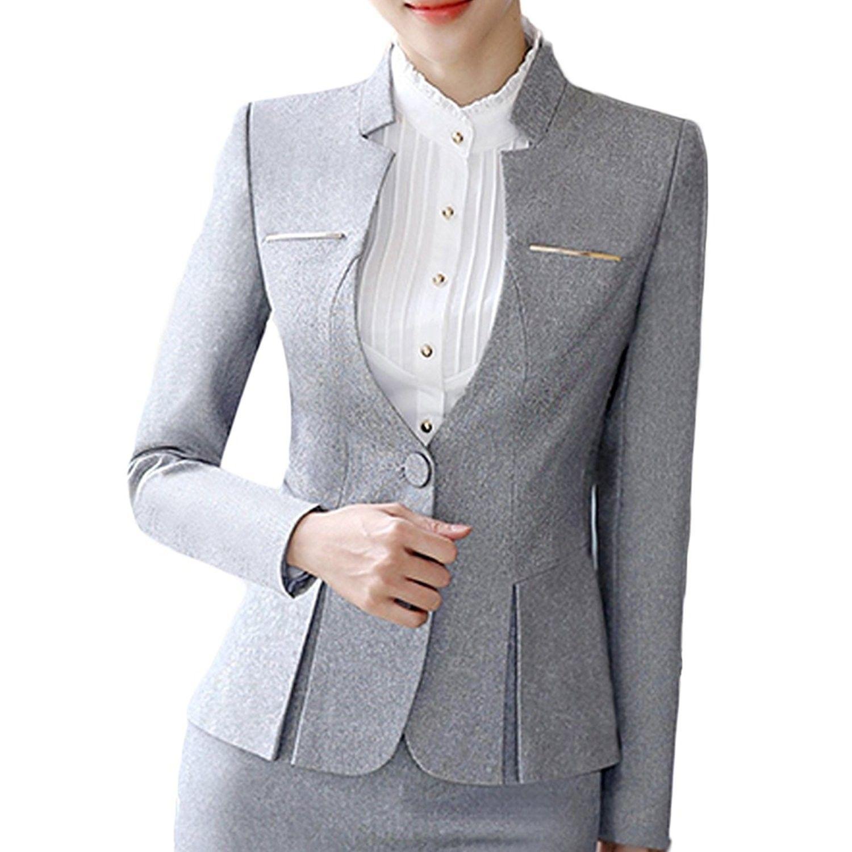 Light Grey Pant Suit Womens