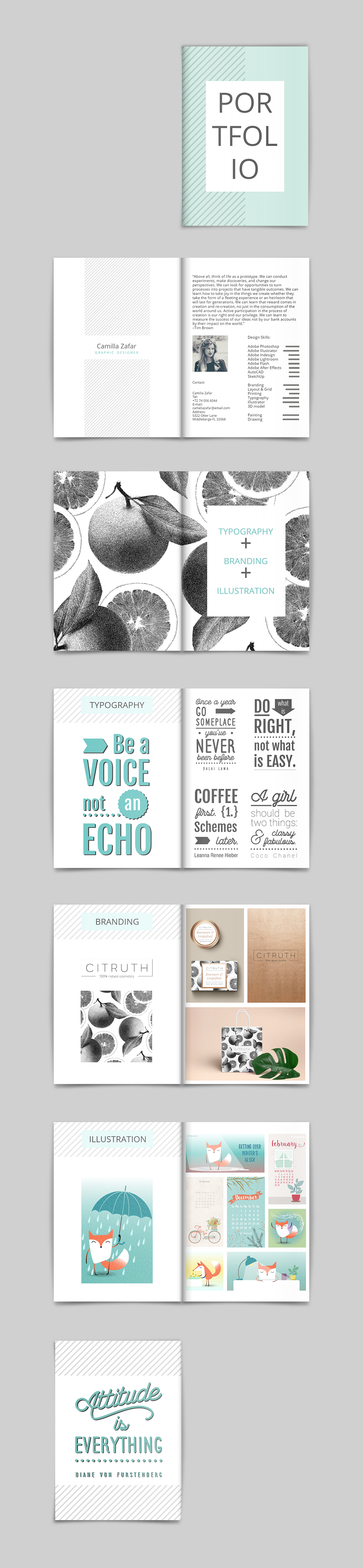 Graphic Design Portfolio Template | Portfolio Templates