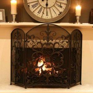 fireplace screens | Fireplace Screens,Wrought Iron Fireplace Screens,Types Of Wrought Iron ...