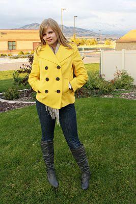 i need ideas to dress with my yellow jacket