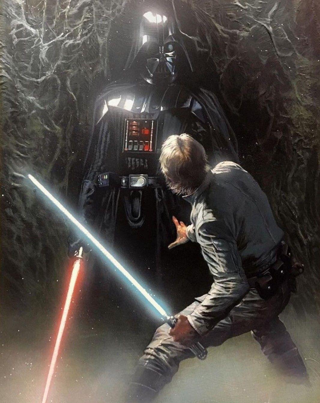 Luke Skywalker Vs Darth Vader In Degobah Darth Vader Vader Star Wars Star Wars Universe