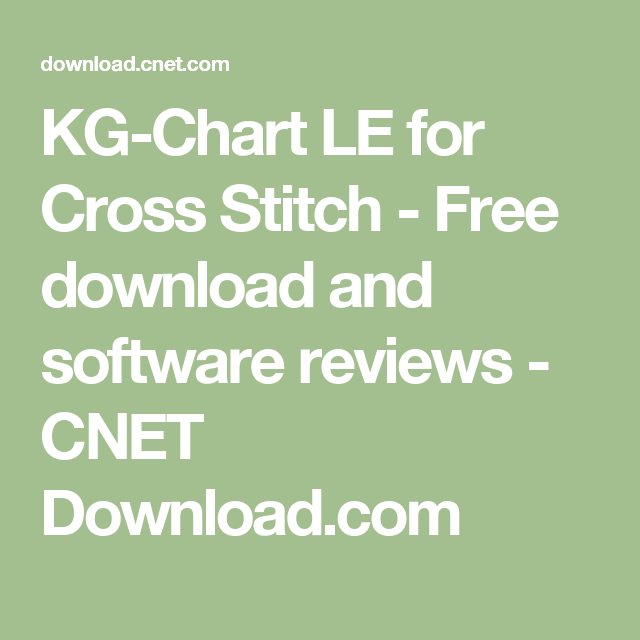 Kg Chart Le For Cross Stitch Free Download And Software Reviews