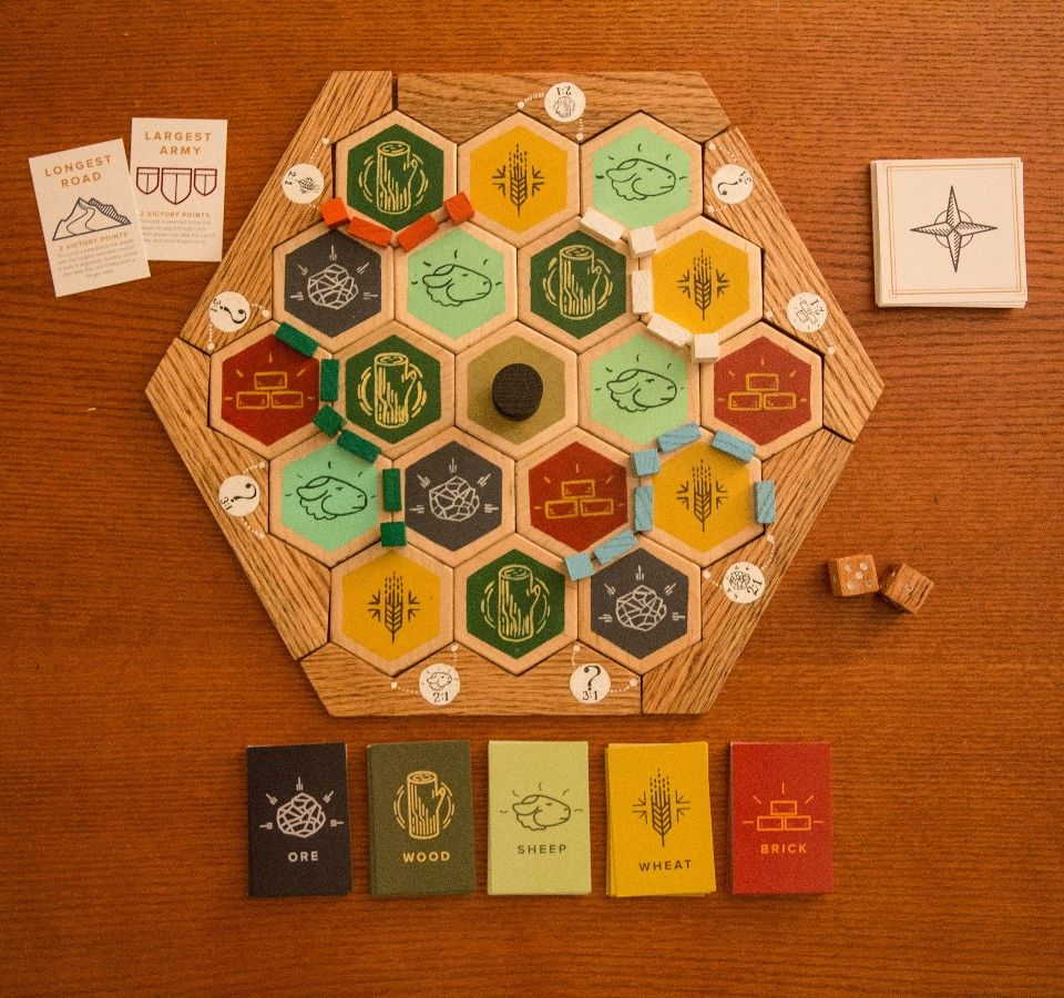 Settlers of Catan set up Catan, Card design, Board game