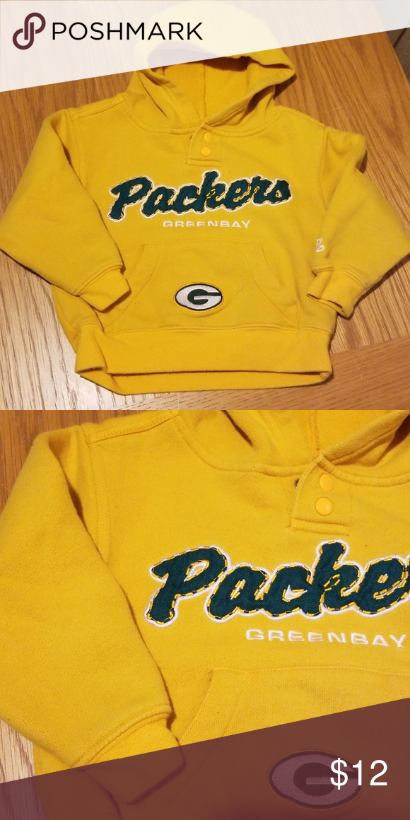 97120e657 Kids Green Bay Packer Sweatshirt Go Pack Go NFL Shirts   Tops Sweatshirts    Hoodies
