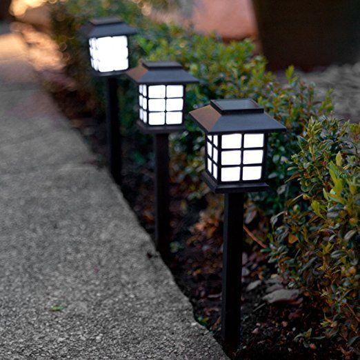 6er Set LED Solar Laterne Gartenleuchte Lights4fun Garten Deko Balkon Dekoration  Garten Ideen Gartenparty Deko Dekoration Beleuchtung Garten Terasse 6 LED  ...