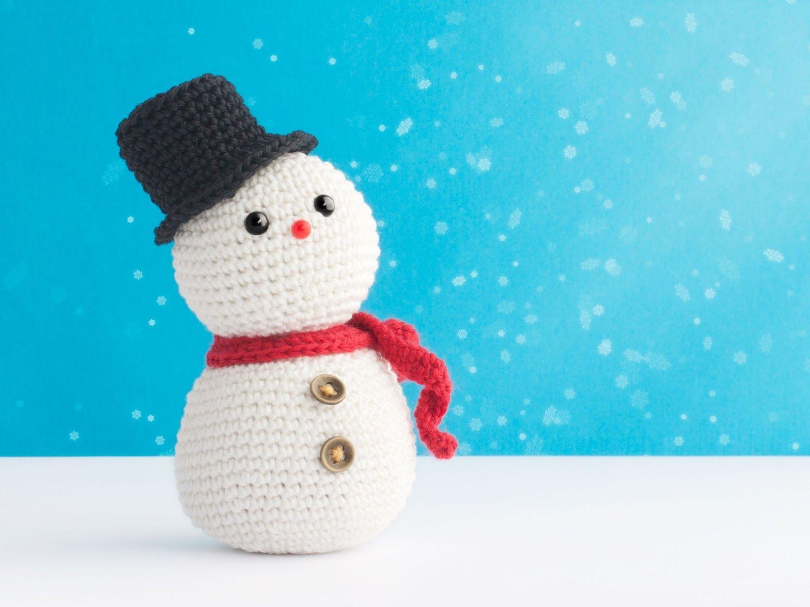 Amigurumi Snowman : Muñeco de nieve amigurumi patrón gratis amigurumi snowman free