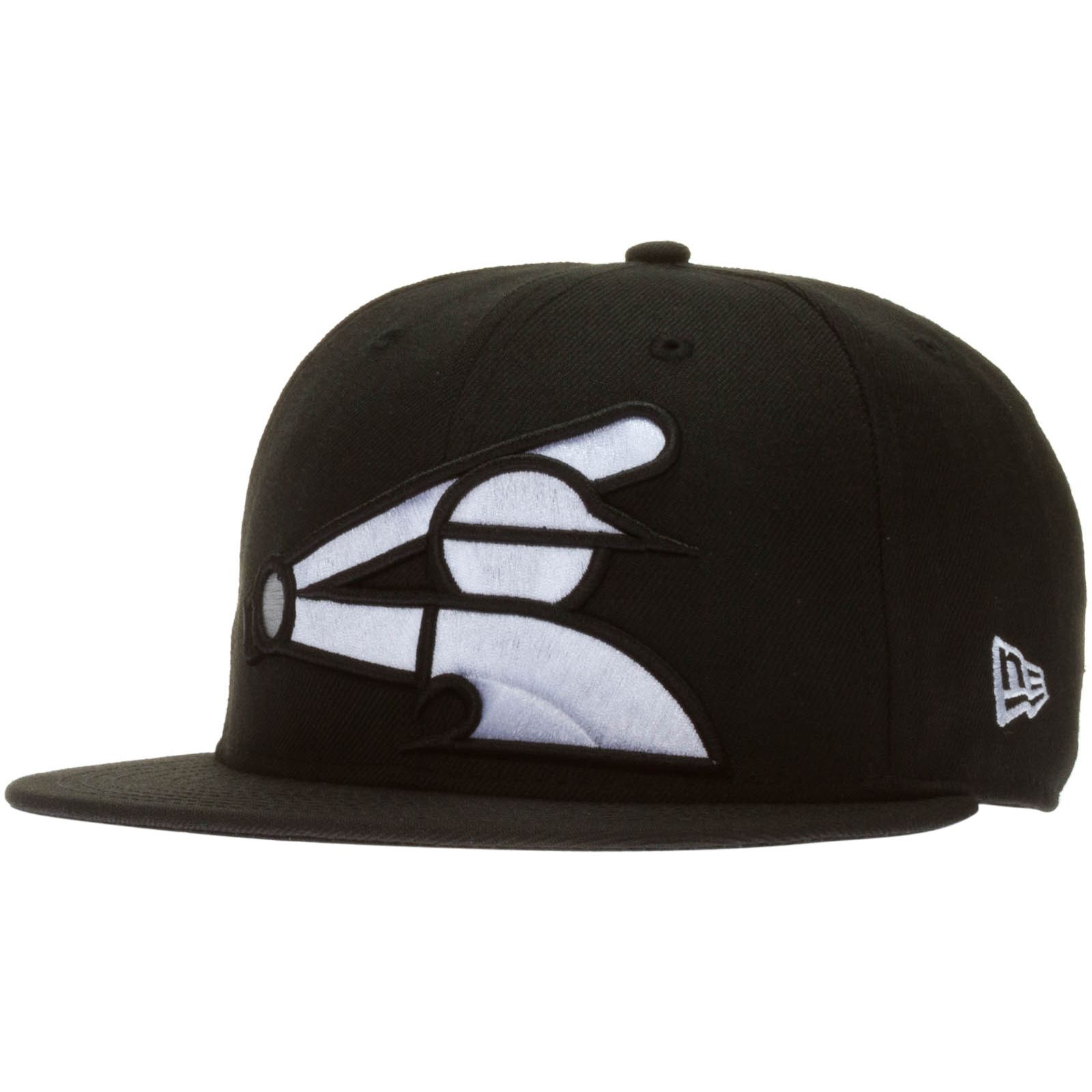 e44d8454a95 Chicago White Sox Black Over-Size Half-Batterman Logo Snapback Hat by New  Era  Chicago  ChicagoWhiteSox  WhiteSox