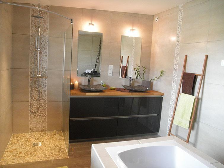 Salle de bain douche à l\'italienne | Home design | Pinterest ...