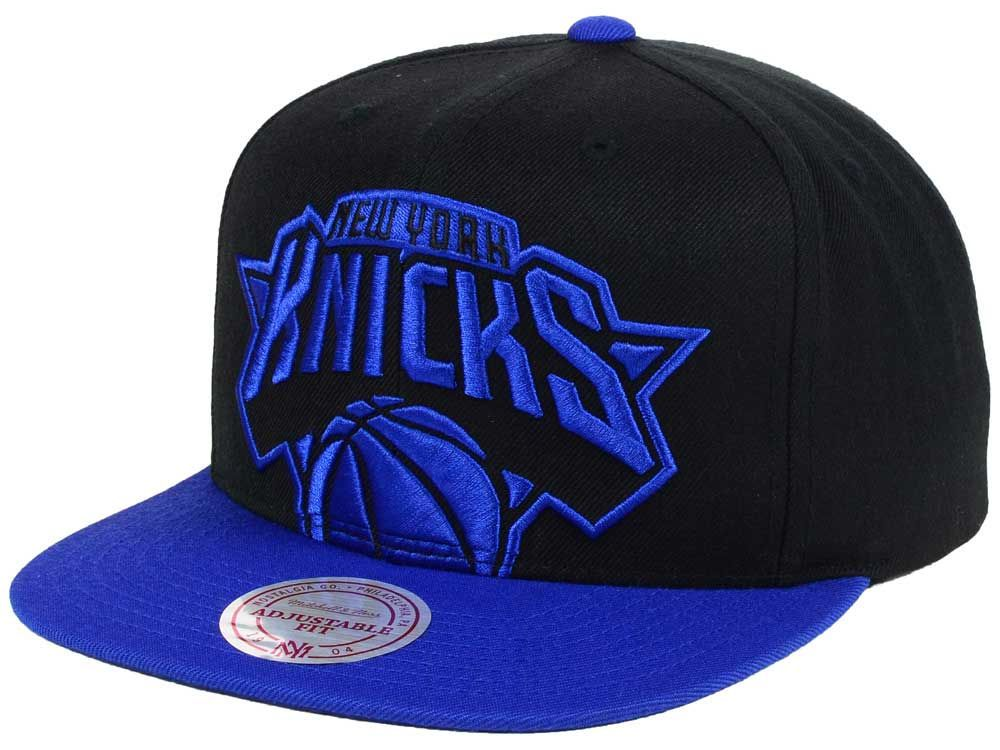 9073ff3d284bf New York Knicks Mitchell   Ness NBA Custom XL Cropped Snapback Cap ...