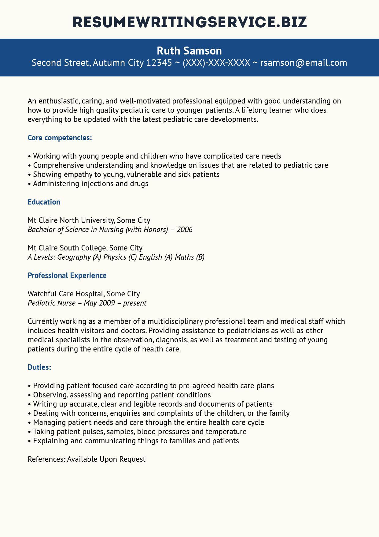 sample resume skills for nurses